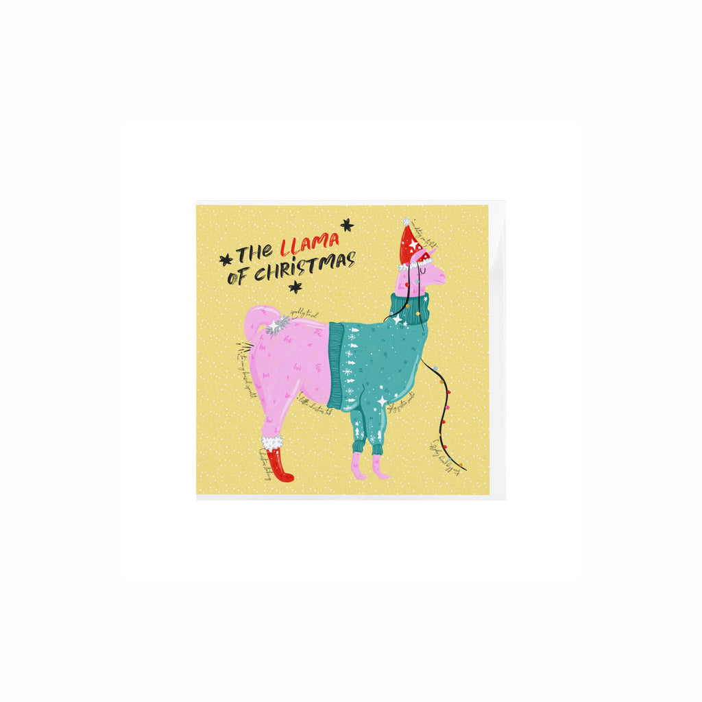 Llama Of Christmas Card - House Of Wonderland, HOW