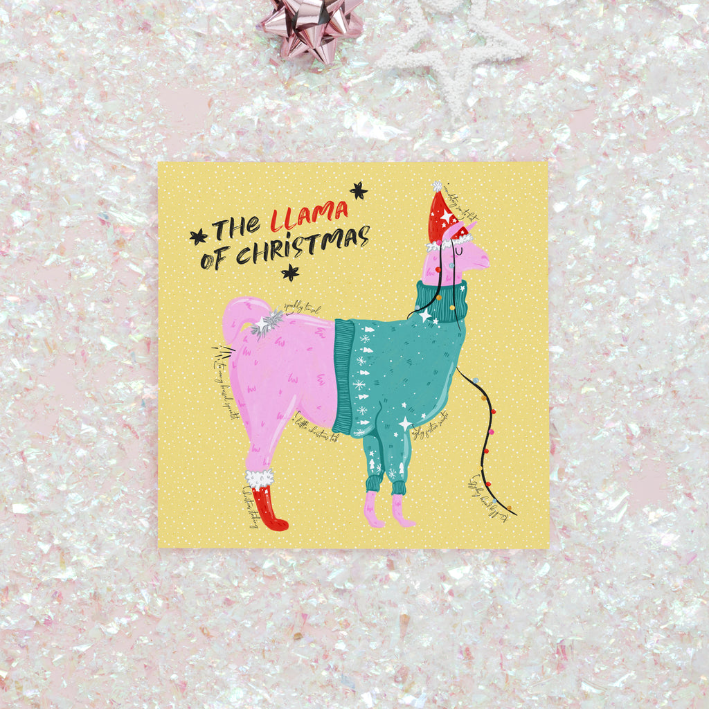 Llama Of Christmas Card - House Of Wonderland