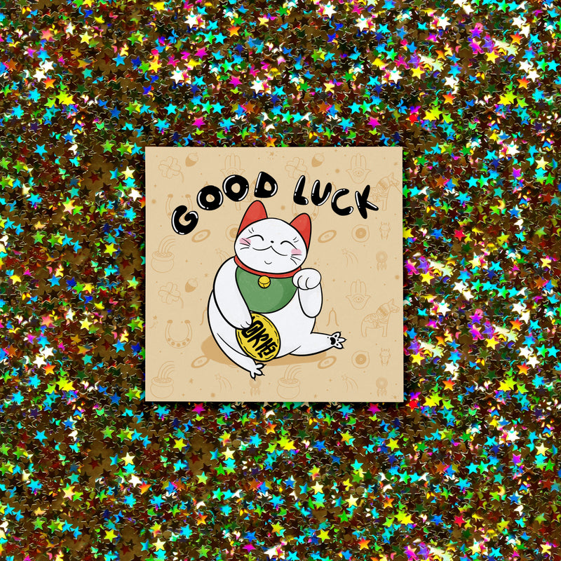 Good Luck Cat Card - House Of Wonderland, HOW
