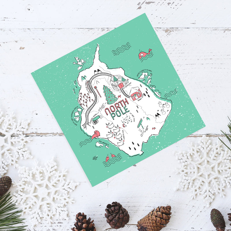 North Pole Christmas Card - House Of Wonderland, HOW