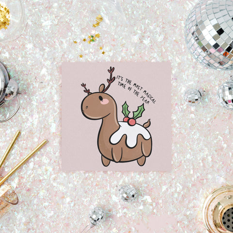 Unicorn Of Christmas Card