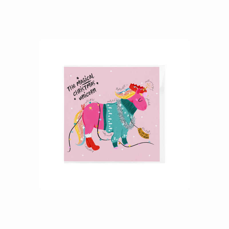 Unicorn Of Christmas Card - House Of Wonderland, HOW