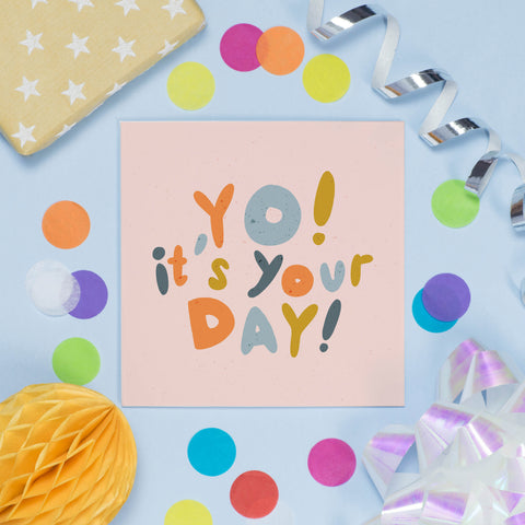 Terrazzo You're Pretty Awesome Card