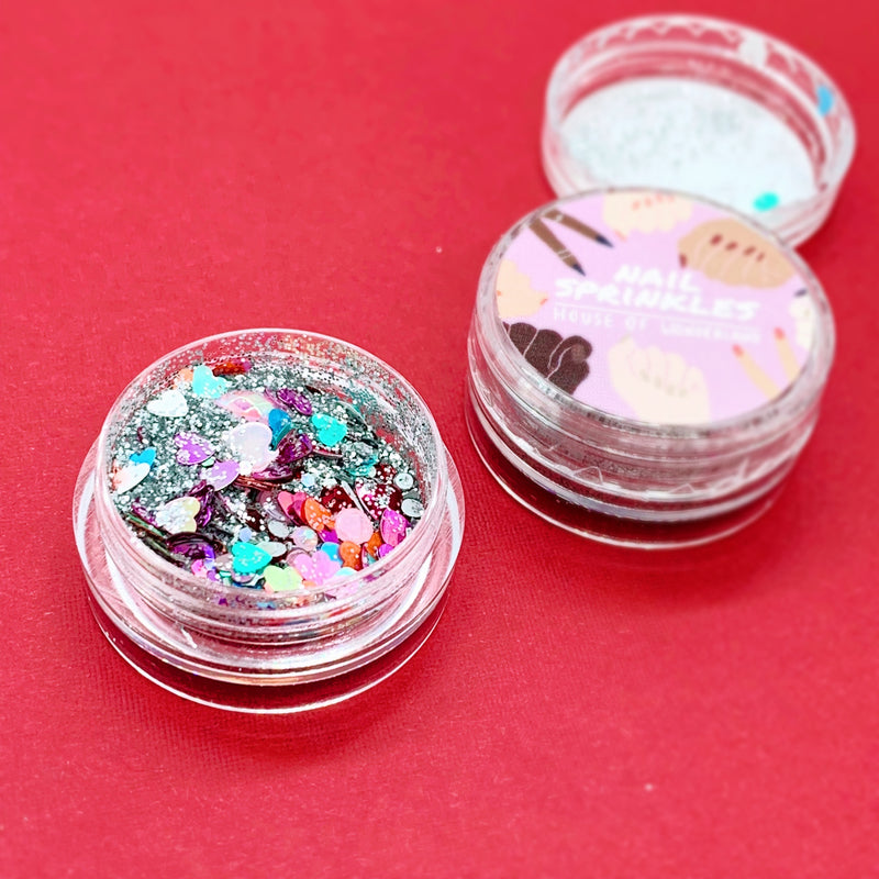 Valentines Nail Sprinkles - House Of Wonderland, HOW