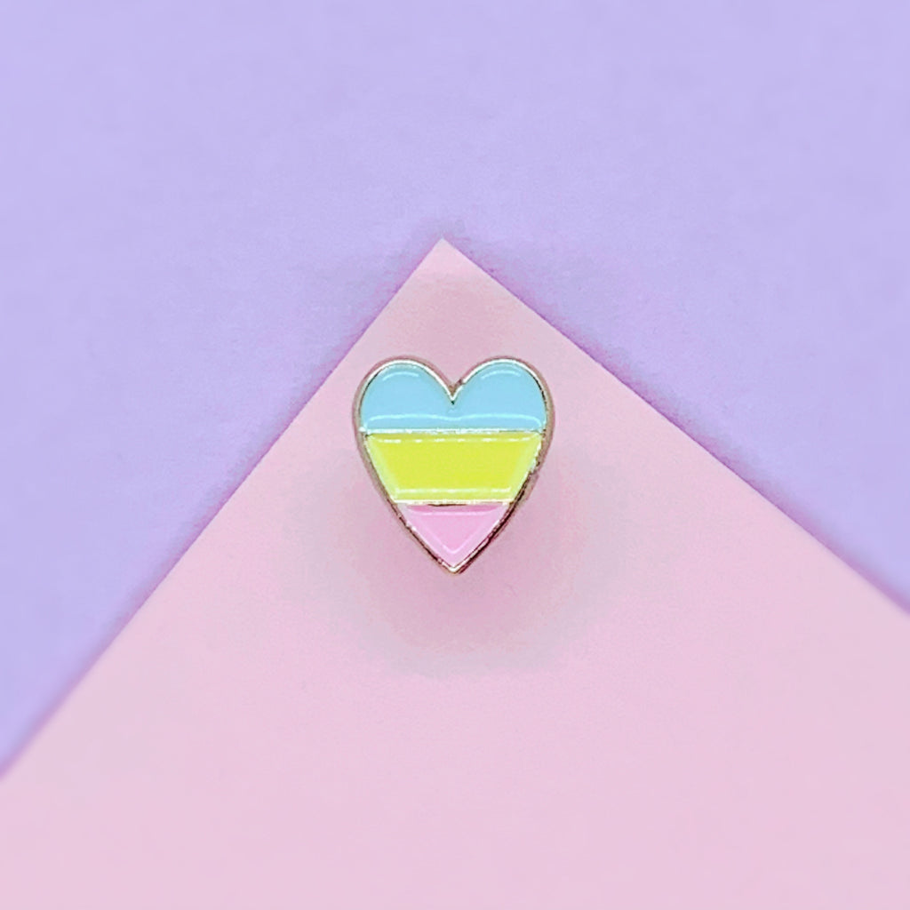 Tiny Rainbow Heart Enamel Pin - House Of Wonderland, HOW