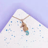 Seahorse Rose Gold Necklace - House Of Wonderland, HOW
