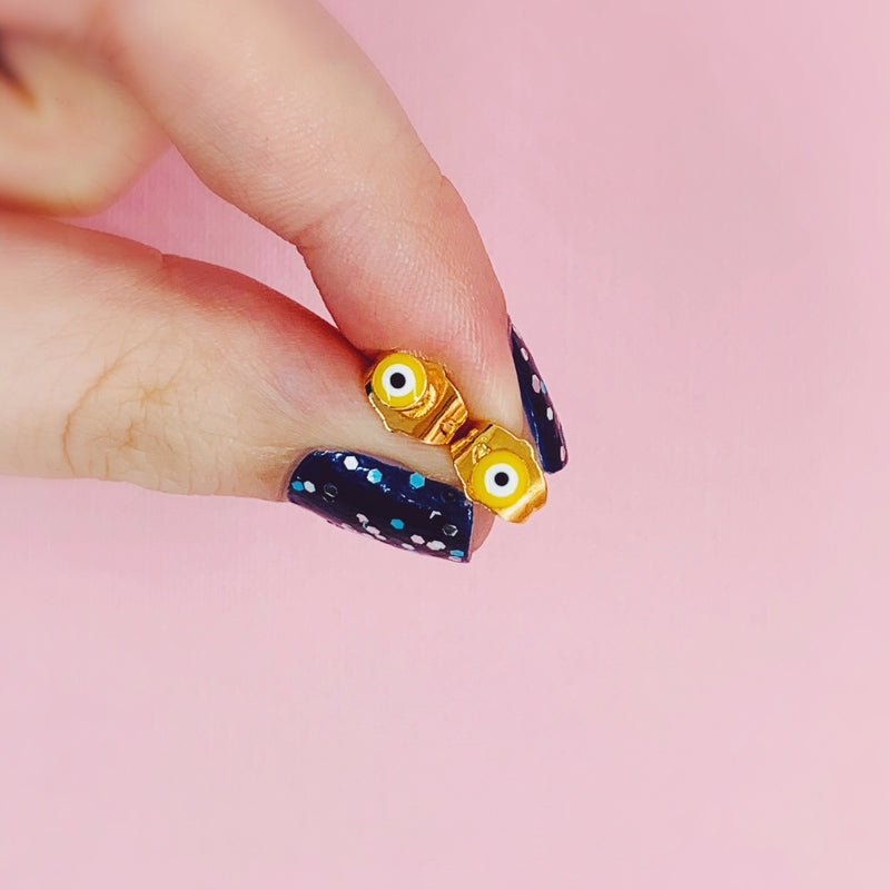 Evil Eye Stud Earrings - House Of Wonderland, HOW