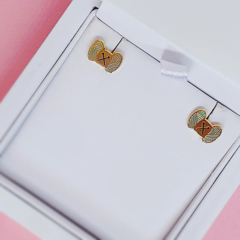 Mini Wool Earrings - House Of Wonderland, HOW