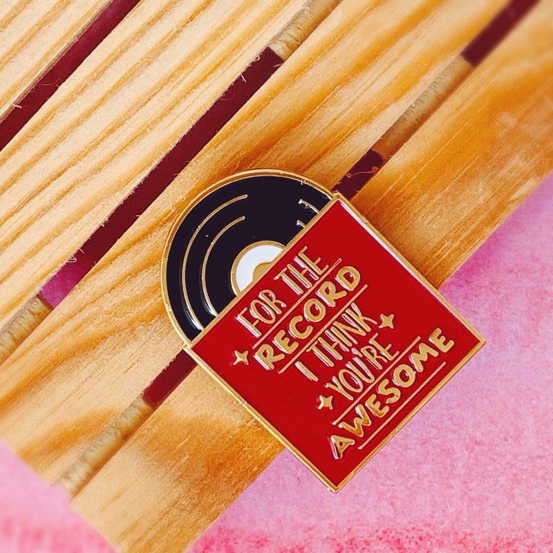Awesome Record Enamel Pin - House Of Wonderland, HOW