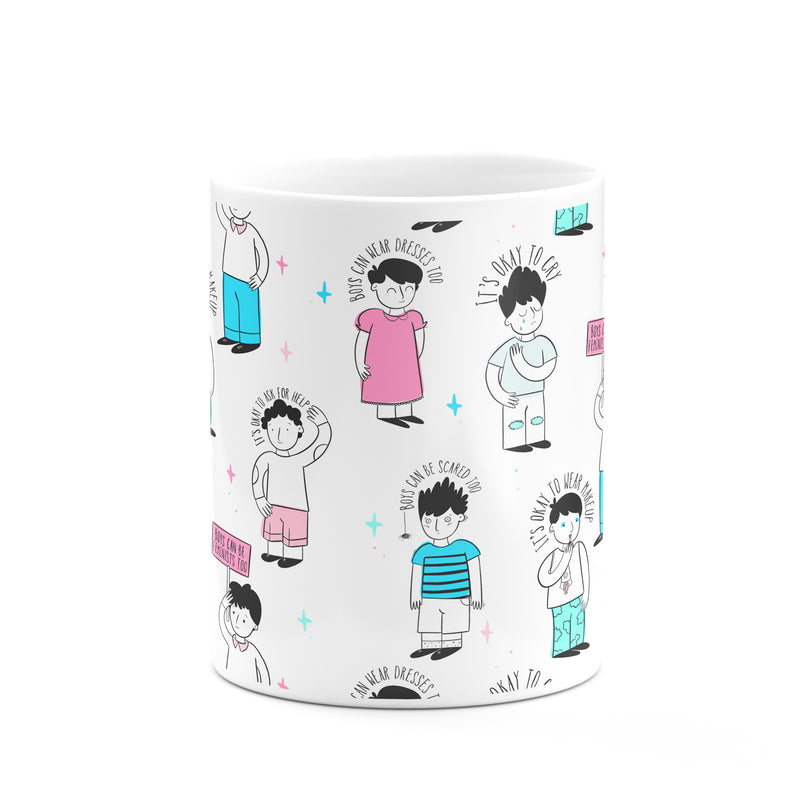 Boys Can Be Feminists Mug - House Of Wonderland, HOW