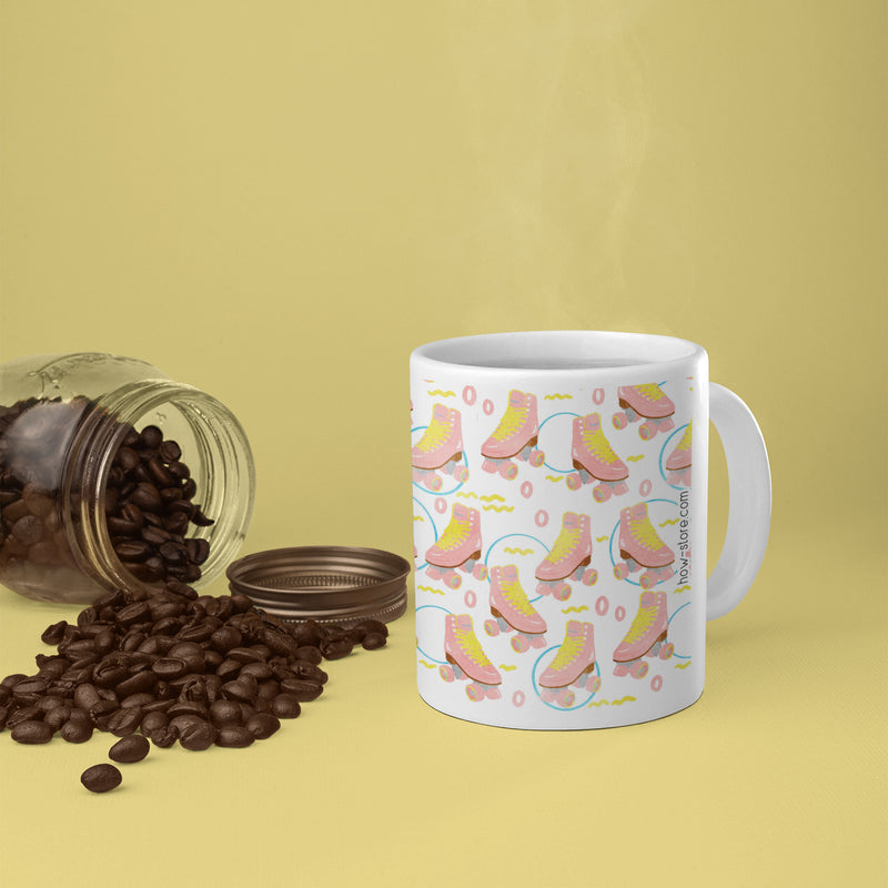Pink Roller Skates Mug - House Of Wonderland, HOW