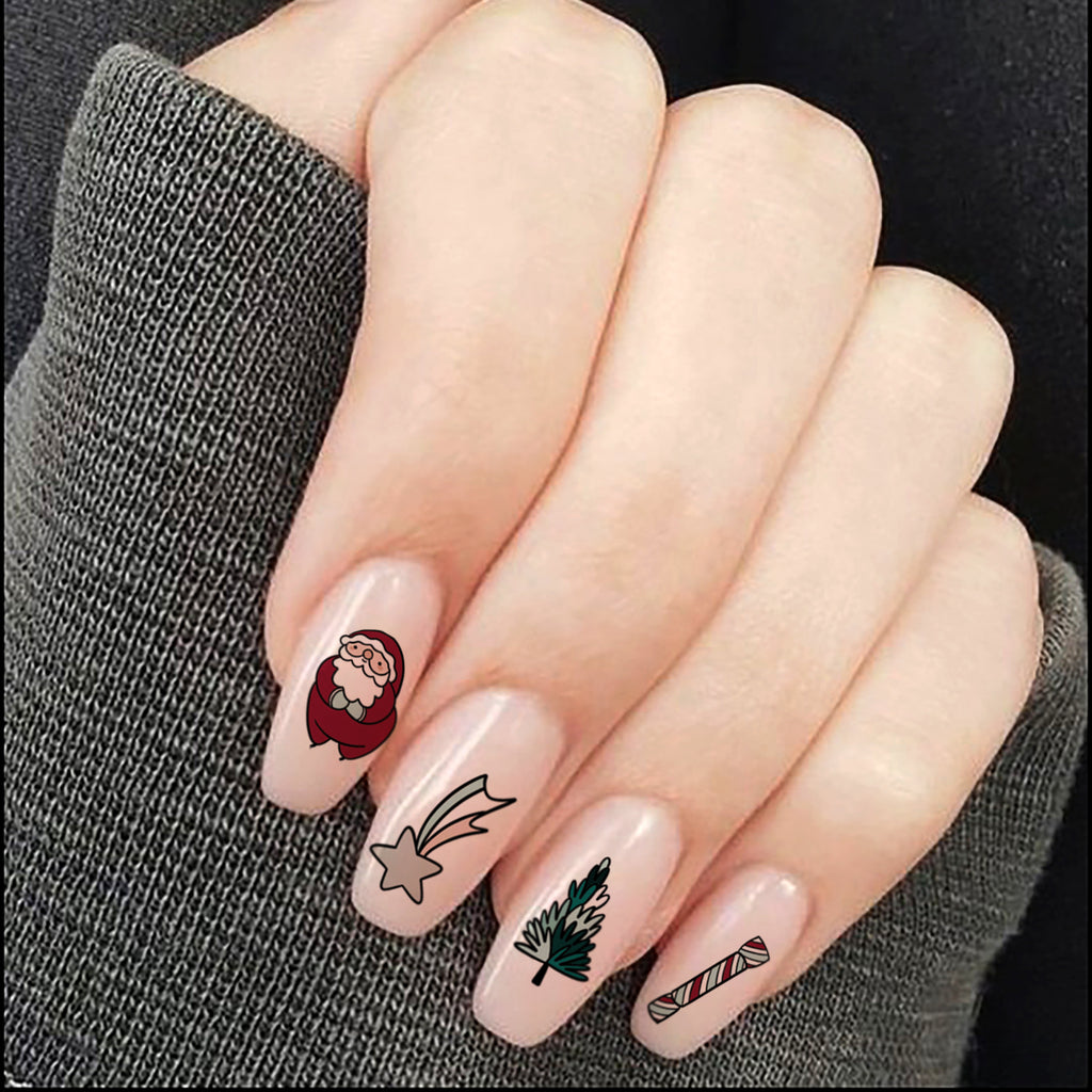 Christmas Cheer Nail Tattoos - House Of Wonderland, HOW
