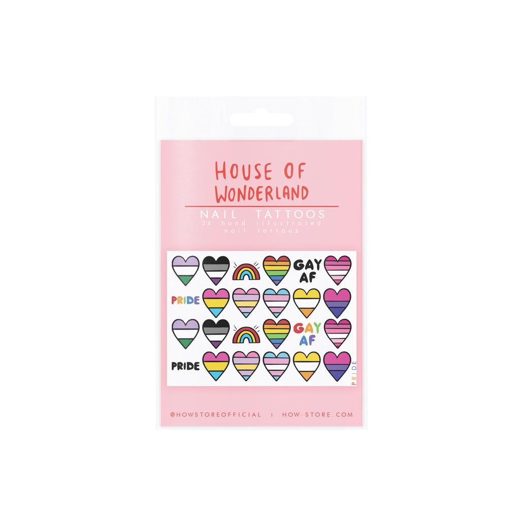 Pride Nail Tattoos - House Of Wonderland, HOW