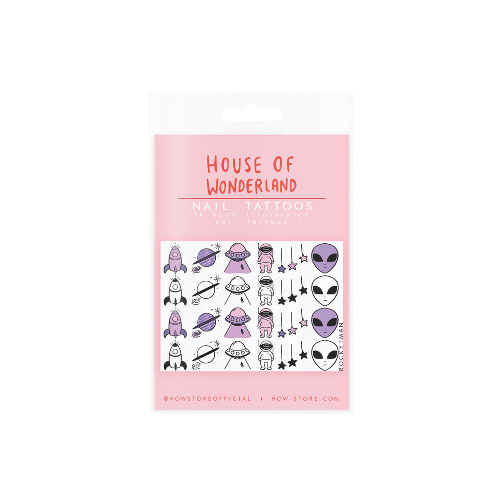 Rocketman Nail Tattoos - House Of Wonderland, HOW