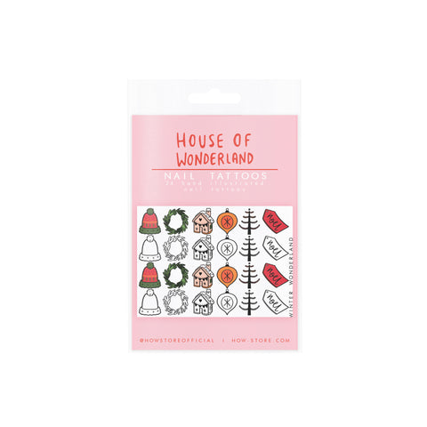 Christmas Cheer Nail Tattoos