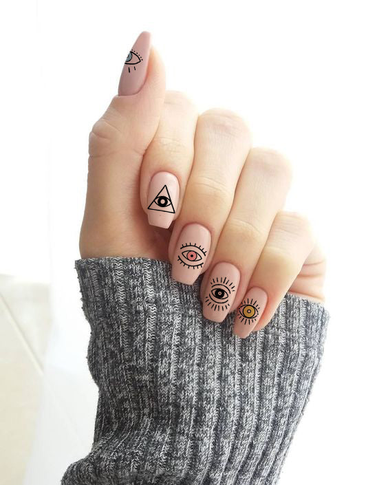 Evil Eye Nail Tattoos - House Of Wonderland, HOW