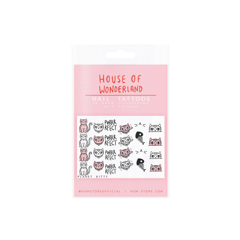 Planet Kitty Nail Tattoos - House Of Wonderland, HOW