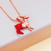 Reindeer Rose Gold Necklace - House Of Wonderland, HOW