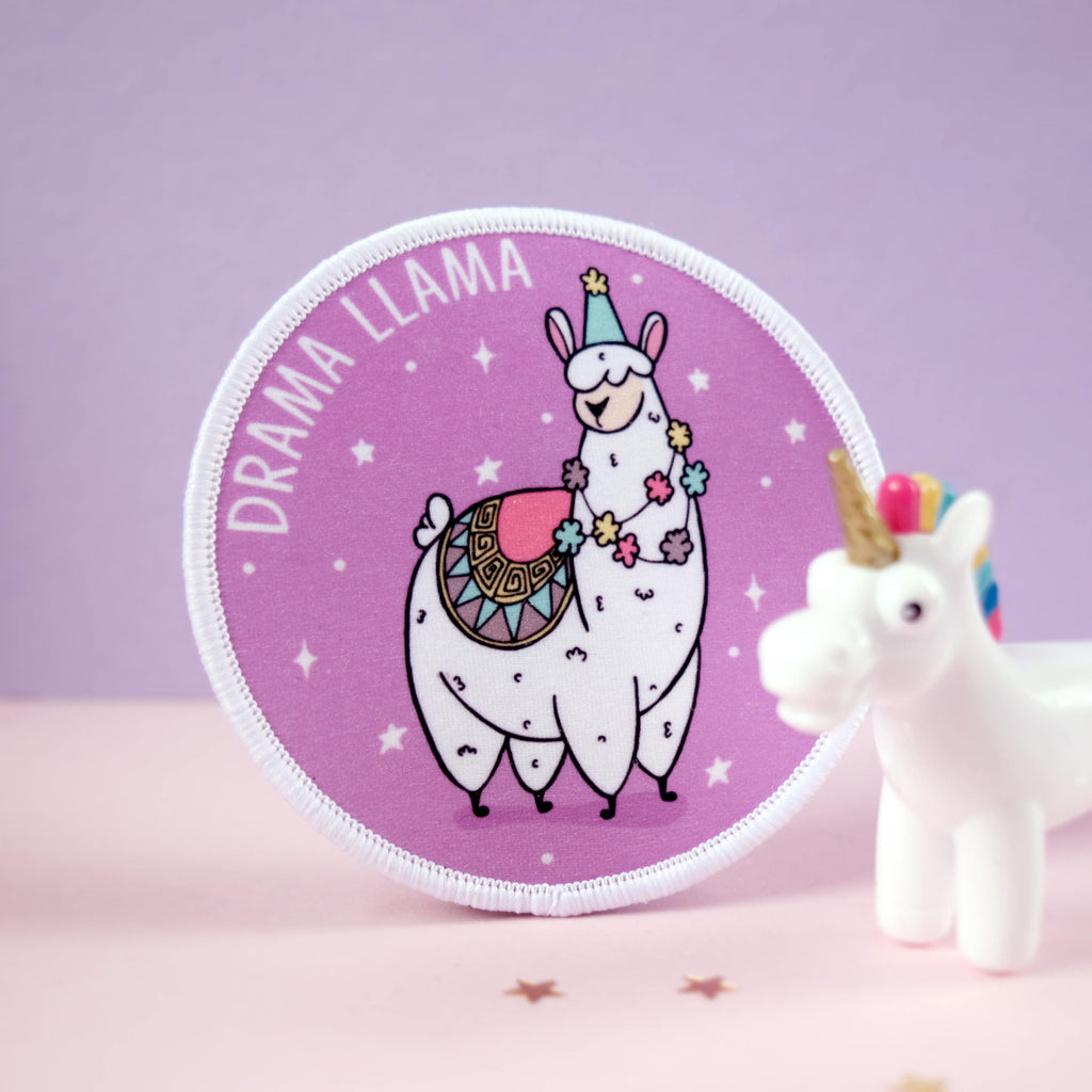 Drama Llama Iron on Patch - House Of Wonderland