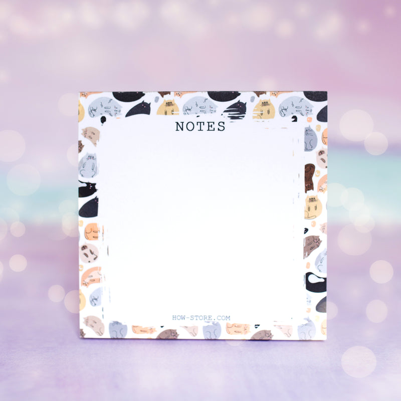 Cat Notes Notepad - House Of Wonderland, HOW