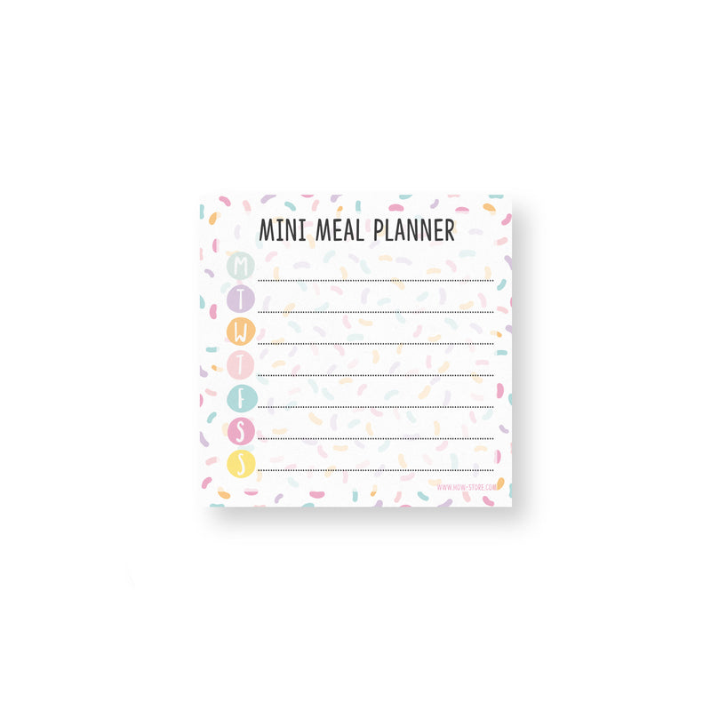 Mini Meal Planner Notepad - House Of Wonderland