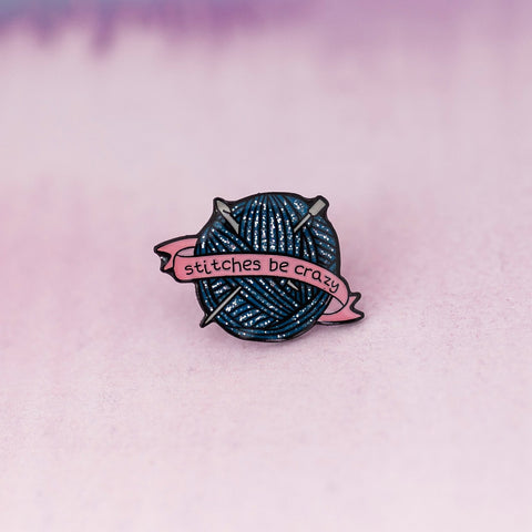 Positive Book Enamel Pin - Blue