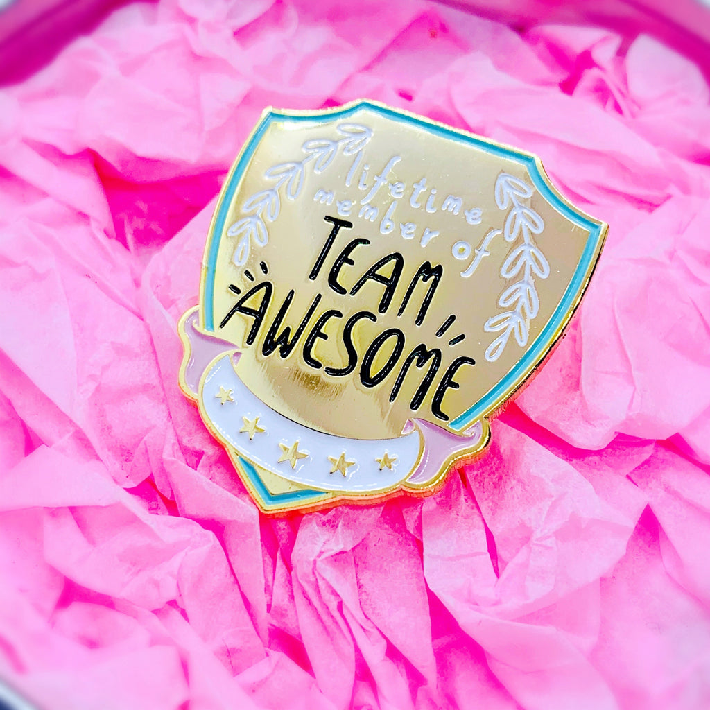Team Awesome Flag Enamel Pin