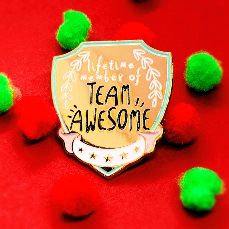 Team Awesome Flag Enamel Pin - House Of Wonderland, HOW