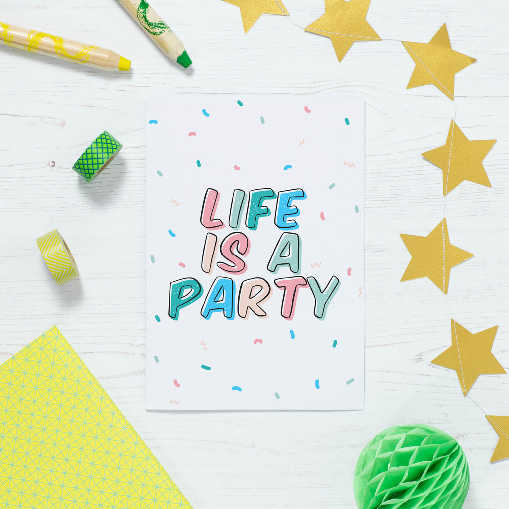 Life Is A Party Print - House Of Wonderland, HOW