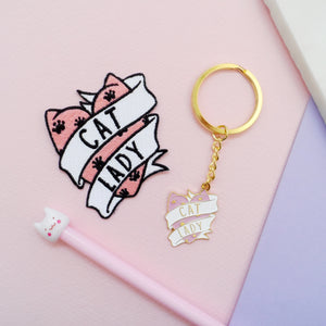 Cat Lady Keyring - House Of Wonderland, HOW