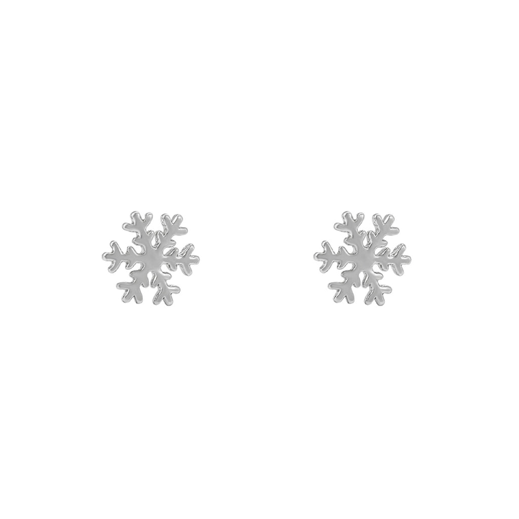 Silver Snowflake Earrings - House Of Wonderland, HOW