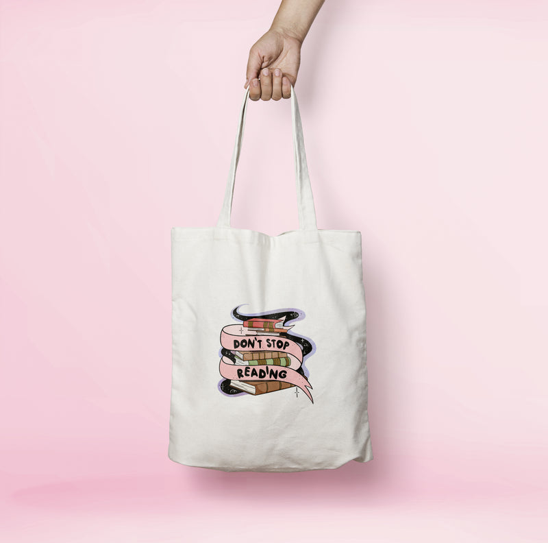 Don't Stop Reading Tote Bag - House Of Wonderland, HOW