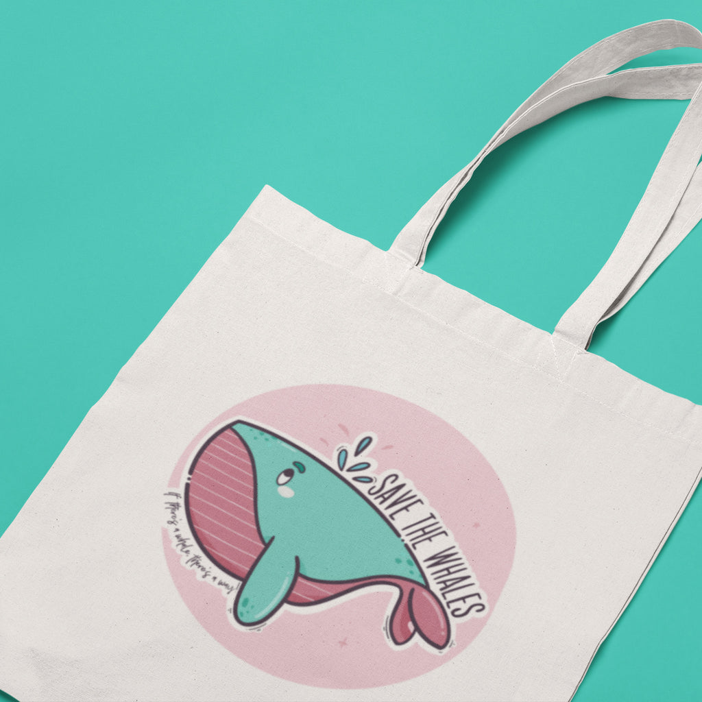 Save The Whales Tote Bag - House Of Wonderland, HOW
