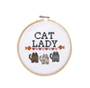 Cat Lady Cross Stitch Pattern - House Of Wonderland, HOW