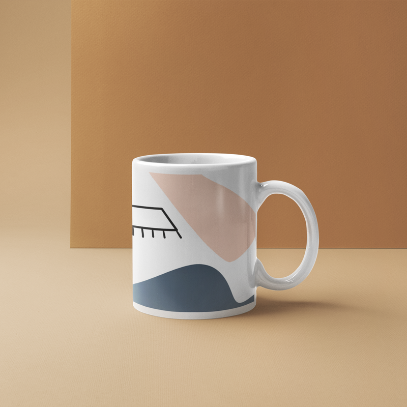 Abstract Face Mug - Style 2 - House Of Wonderland, HOW