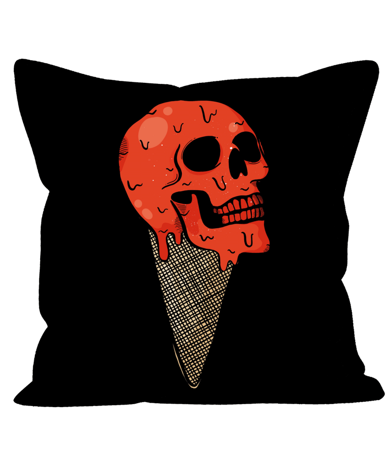 Red Skull Sofa Cushion