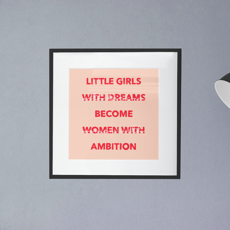 Women With Ambition Print - House Of Wonderland, HOW