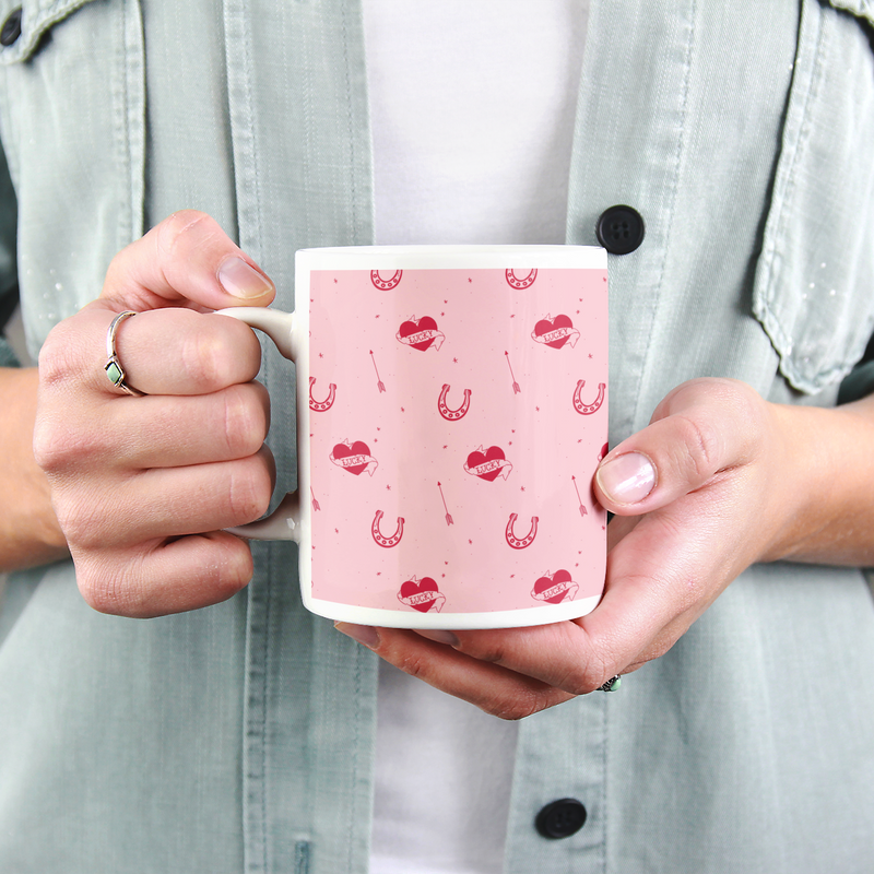 Lucky Tattoo Pattern Mug - House Of Wonderland, HOW