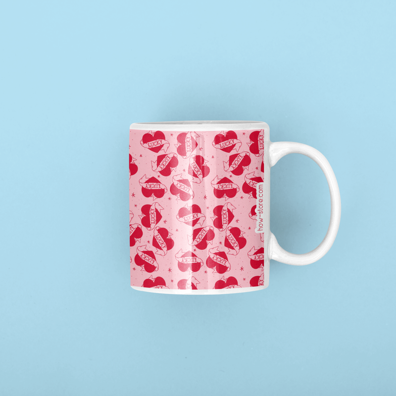 Lucky Heart Pattern Mug - House Of Wonderland, HOW