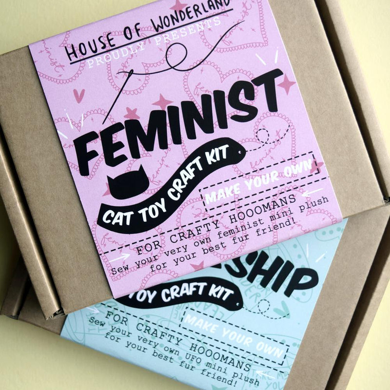 Feminist Cat Toy Craft Kit - House Of Wonderland, HOW