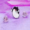 Glam Rock Ghost Enamel Pin - House Of Wonderland, HOW