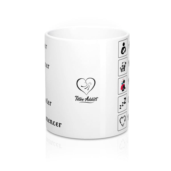Mug Message Personnalisé Amusant - Allaiter Materner Porter Cododoter Recommencer