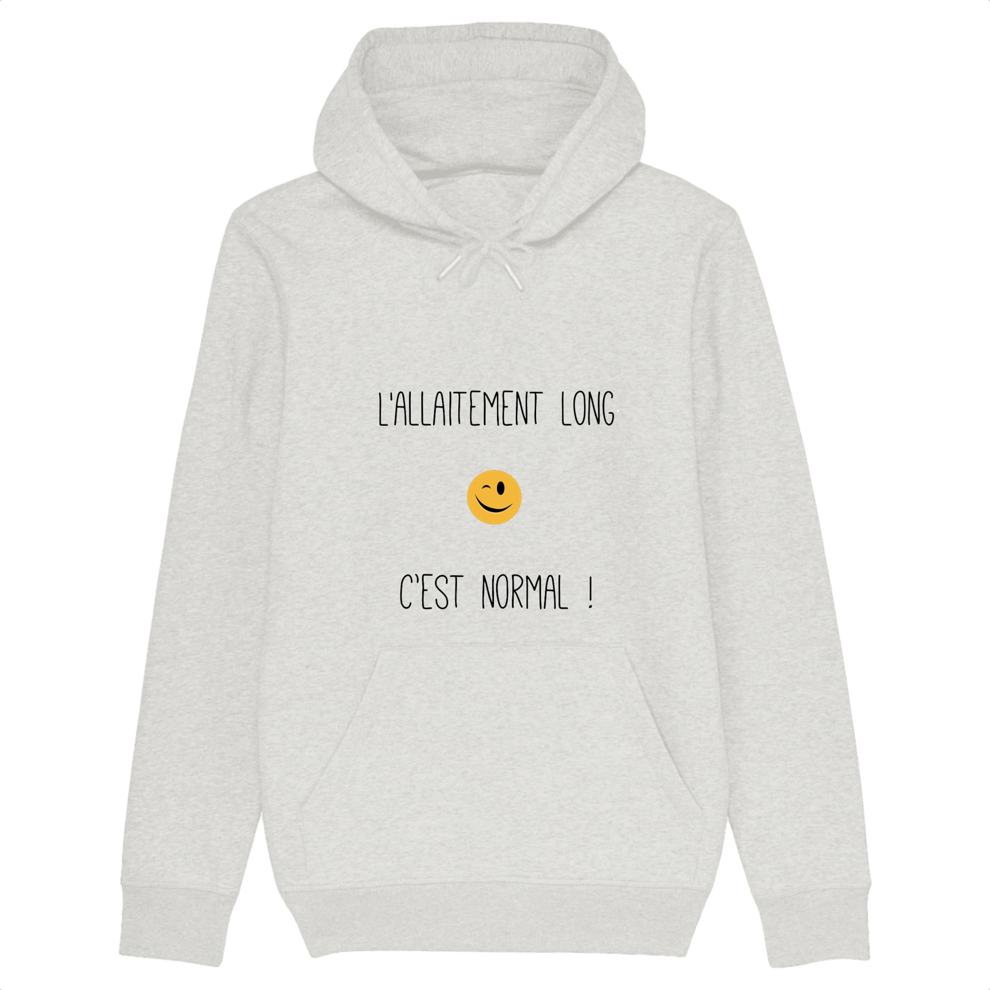 Sweat femme allaitement coton bio Lallaitement long cest normal ! blanc