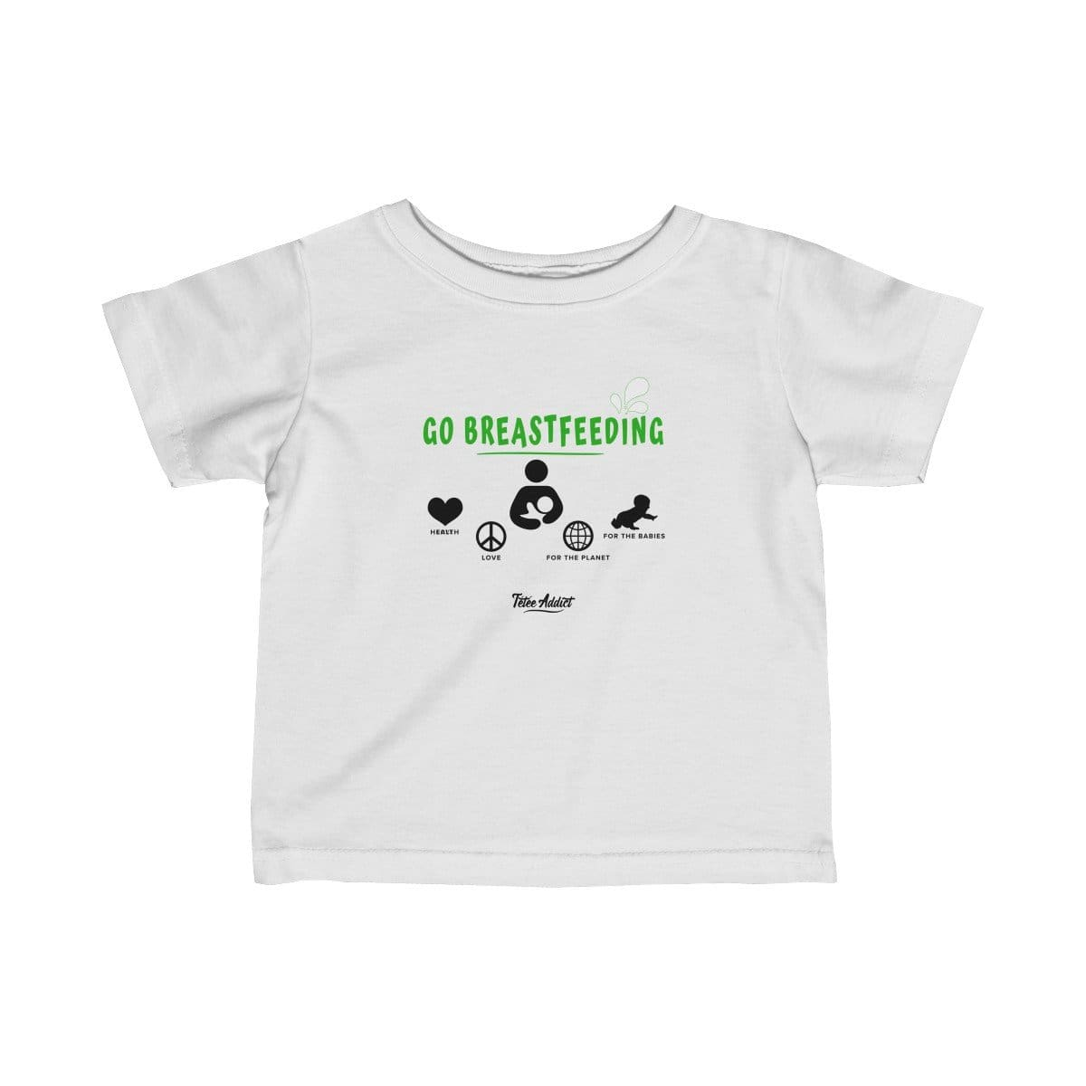 T-shirt Message dAllaitement Enfant Go Breastfeeding