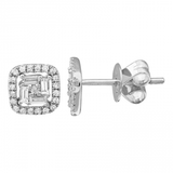 Square Diamond Illusion Studs