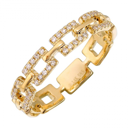 Gold Link Diamond Ring