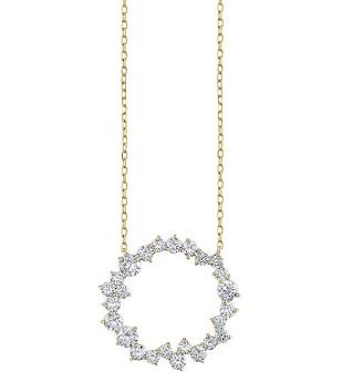 Nogama Diamond Cocktail Circle Pendant Necklace