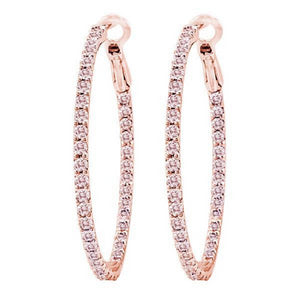 Nogama Collection 1.75-Inch Diamond Hoops