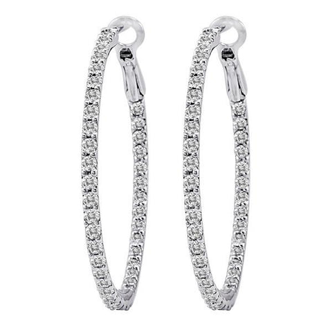 Nogama Collection 2.25-Inch Diamond Hoops