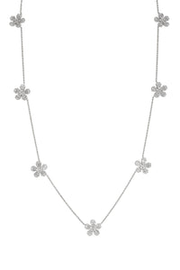 Seven Diamond Fleurette Necklace